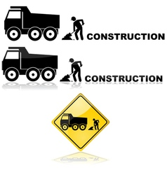 Construction sign vector