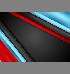 contrast red and blue tech corporate background vector image