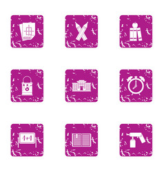 Credit icons set grunge style vector