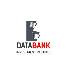 data bank emblem vector image