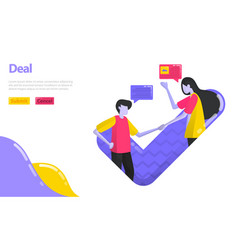 deal or agreement people shake hands and approve vector image