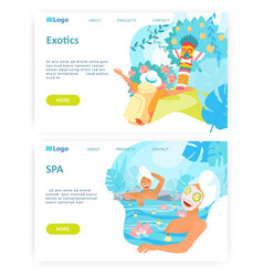 different kind holidays relax in beauty spa vector image