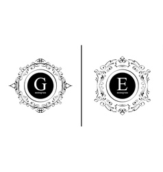 Elegant monogram design template vector image
