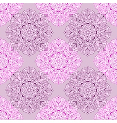 entangle mandala seamless pattern hand drawn vector image
