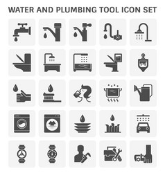 faucet water icon vector image