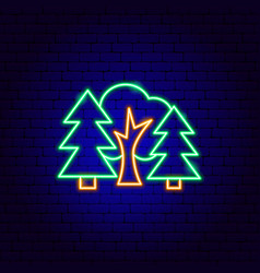 Forest neon sign vector
