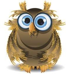 goggle eyed wise owl vector image