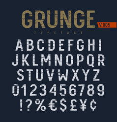 Grunge font 007 vector