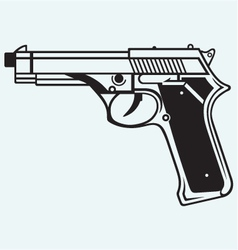 Gun icon vector