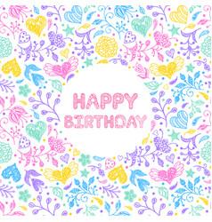 Happy birthday card vector