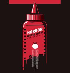 horror movie show creative poster idea vector image