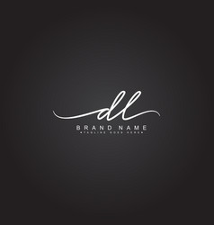 Initial letter dl logo - handwritten signature vector