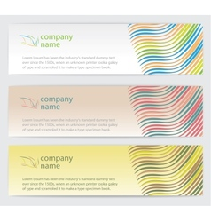 Invitation cards with lines set vector