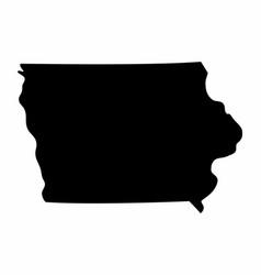 Iowa state silhouette map vector