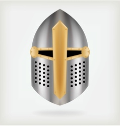 Iron helmet medieval knight vector