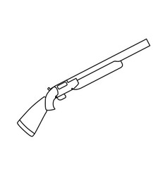 isolated shotgun weapon vector image vector image