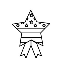 Isolated usa star design vector