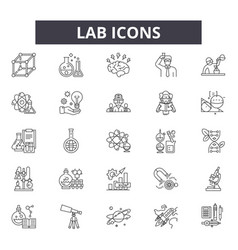 lab icons line icons for web and mobile design vector image