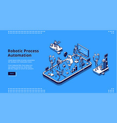 Landing page robotic process automation vector