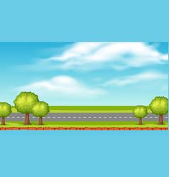 Landscape background design empty road along vector