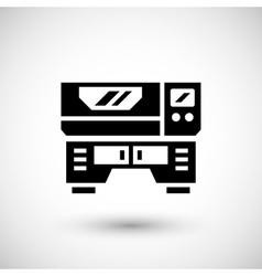 Laser machine icon vector image