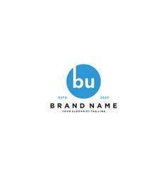 Letter bu logo design vector