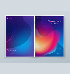 liquid abstract cover background design fluid vector image