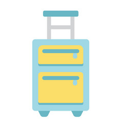 Luggage flat icon travel and tourism vector