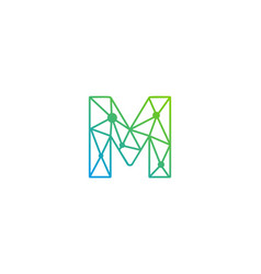 M letter network logo icon design vector