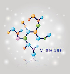 molecule structure chemical icon vector image