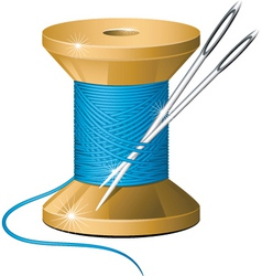 needle and thread vector image