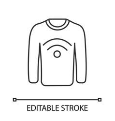 Nfc clothes linear icon vector