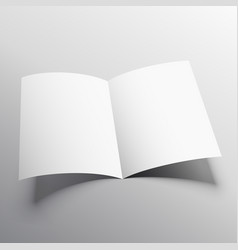 Open book or bi-fold brochure mockup template vector