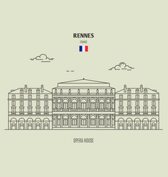 Opera house in rennes vector