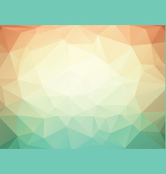 orange green geometric background with triangles vector image