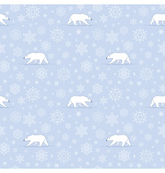 pattern snow polarbear vector image