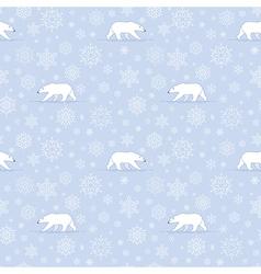 Pattern snow polarbear vector