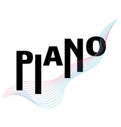 piano typography music festival poster template vector image