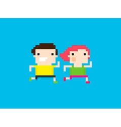 Pixel Runners vector
