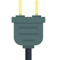 Plug icon flat isolated vector