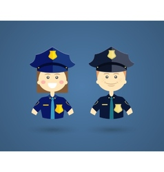 Professions - Police officers vector