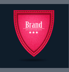 red jeans shield icon protect guard sign layout vector image