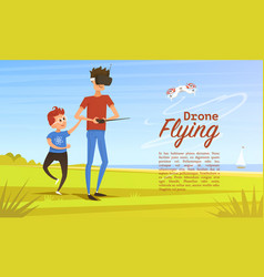 remote control background modern drone concept vector image