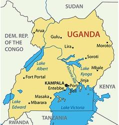 Republic of Uganda - map vector image
