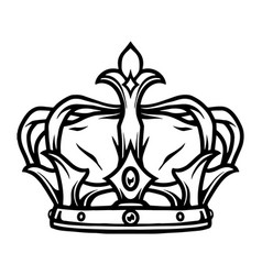 Royal crown tattoo template vector