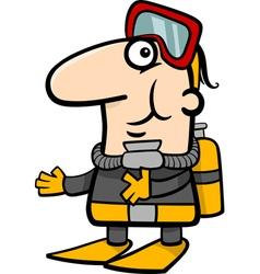scuba diver cartoon vector image