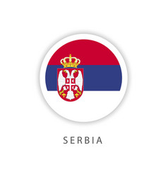 Serbia circle flag template design vector