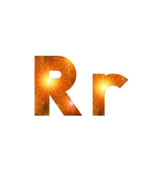 Set of letters firework R vector image