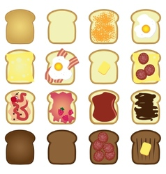 set toasts vector image