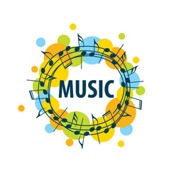 Sign music of musical notes vector